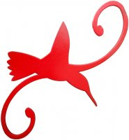 DH7HR - Decorative Hook - Hummingbird - Red