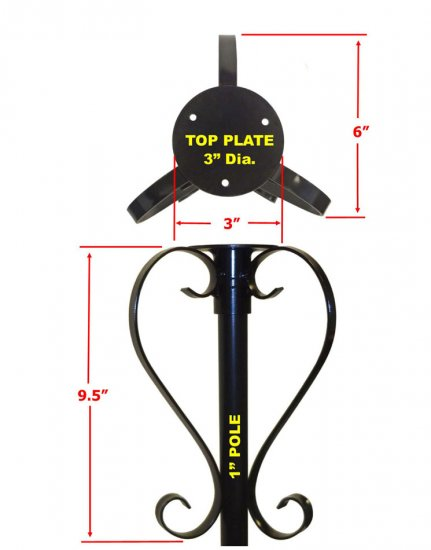 FP5SOSF - 5 Piece Bird Feeder Pole Set with Ground Socket - Click Image to Close
