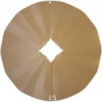 SB7 - 4X4 Disk Squirrel Baffle /Squirrel Guard - Tan - USA