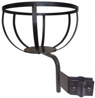 "B12WI - 12"" Flower Pot Holder - Wrought Iron Balusters"
