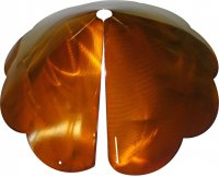 SB8SEC - Cone Scalloped Edge Squirrel Baffle Copper Tint (USA)
