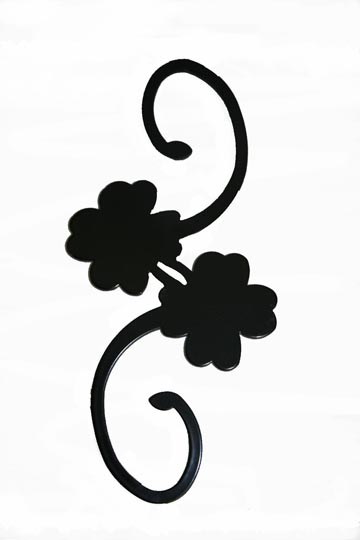 DH7C - Decorative S-Hook - Clover - Click Image to Close